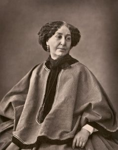 George Sand photographic portrait by Nadar, 1864.