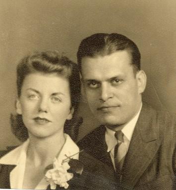 Mary & John Niemczura wedding 1941 gardenia corsage0001