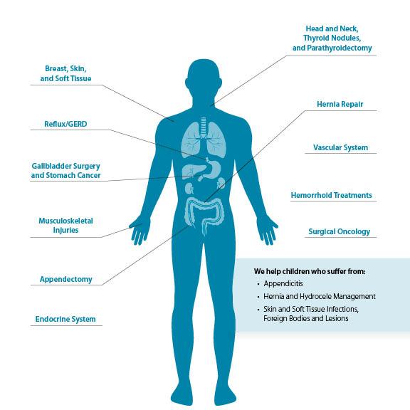treatment for gallbladder stone, hernia, appendix