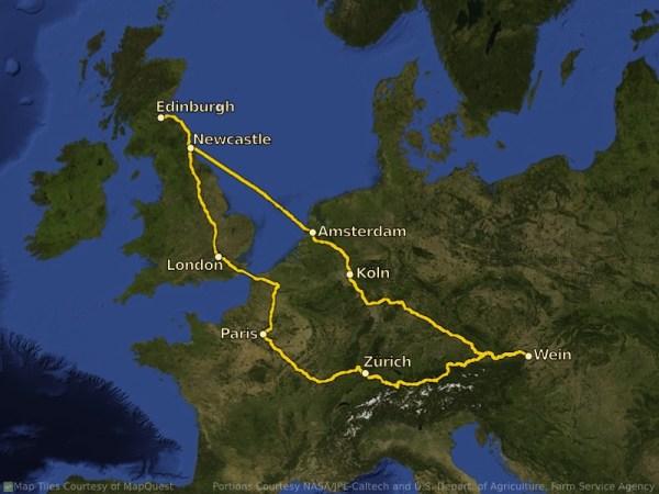 Vienna Trip Map