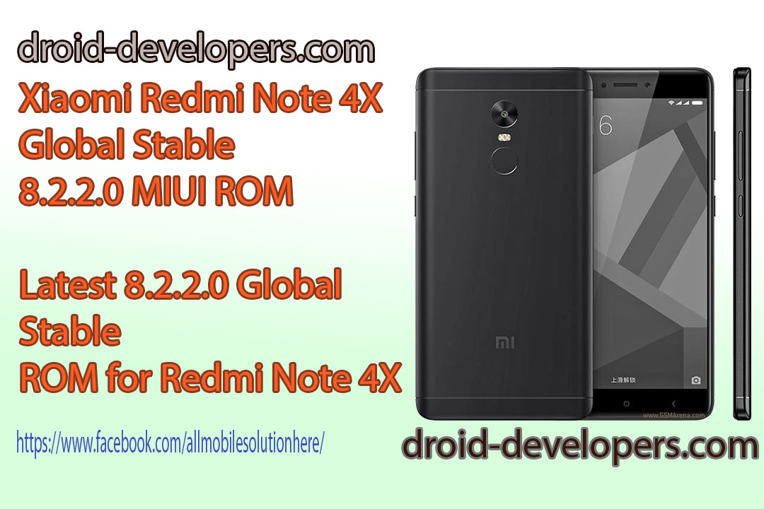 Xiaomi Redmi Note 4X Global Stable 8 2 2 0 MIUI ROM | Droid