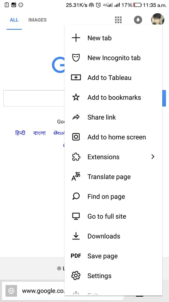 use chrome extensions in android