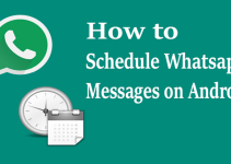 how to send scheduled message on whatsapp