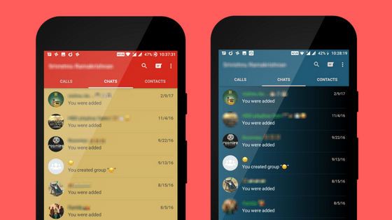 change whatsapp theme on android