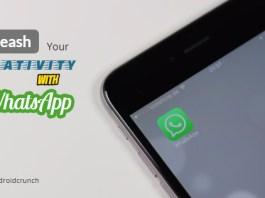 Unleash creativity with whatsapp