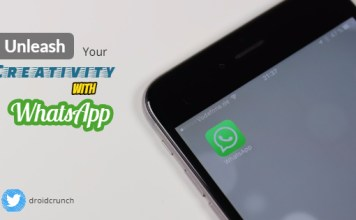Unleash creativity with whatsapp