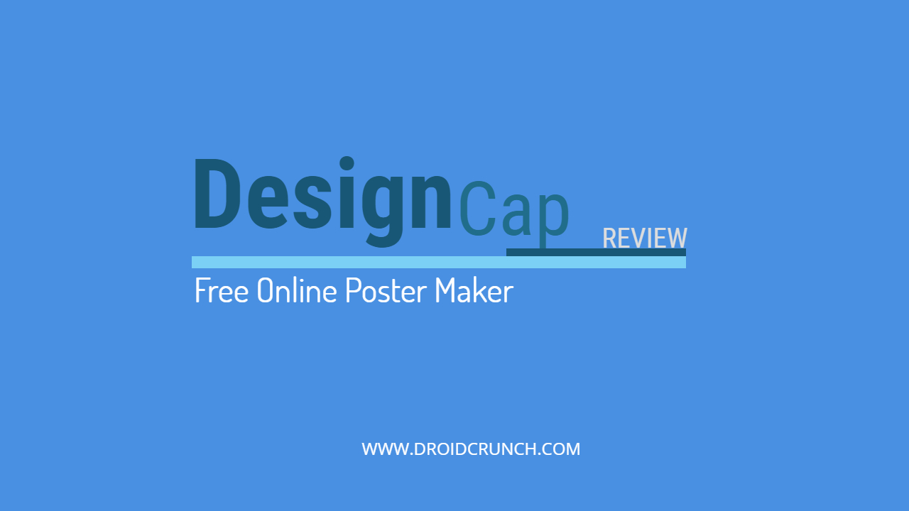 Free Online Poster Maker design cap review