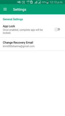settings locker for whatsapp