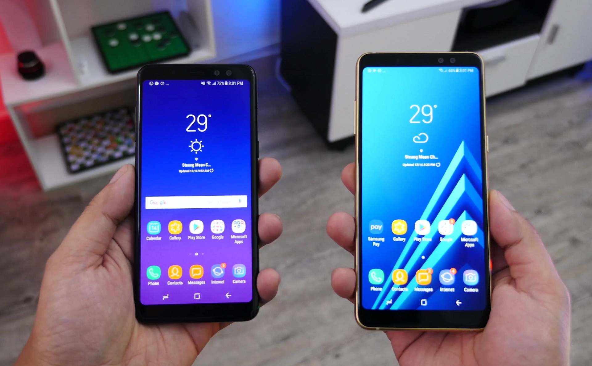 samsung galaxy a6+ and a6
