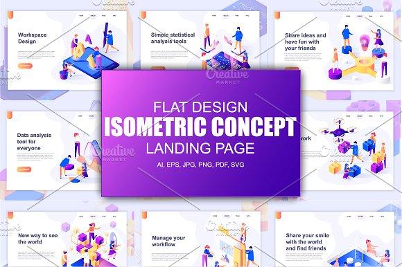 Flat design vector for websites