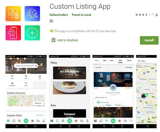 Custom Listing App for Mylisting theme