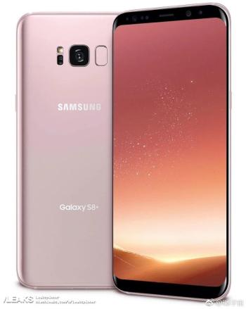 Press render showcasing Rose Gold Galaxy S8+