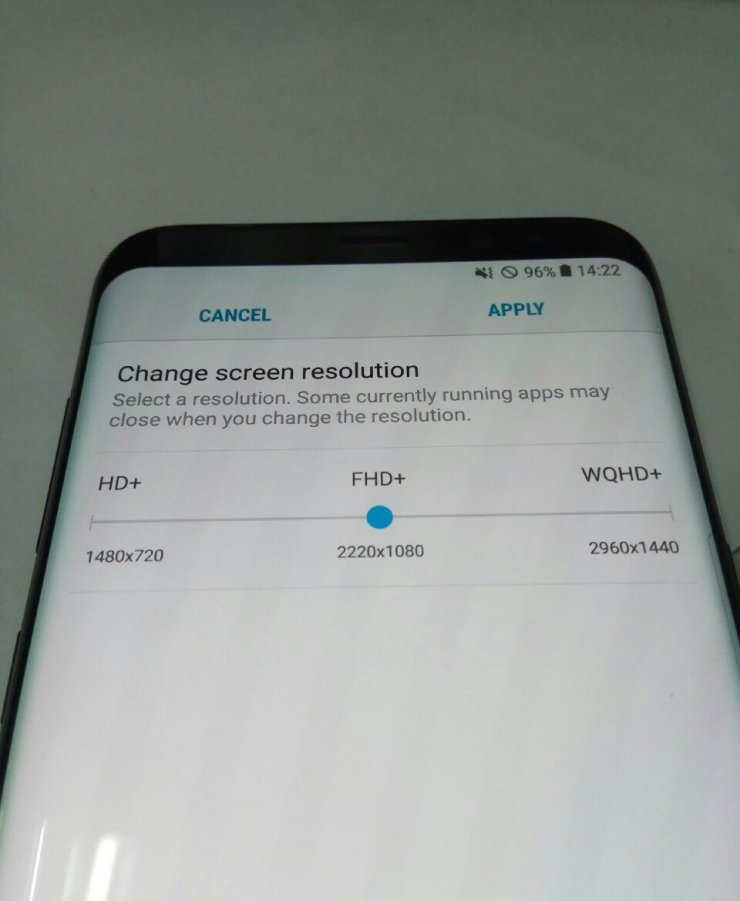 Change Screen Resolution feature