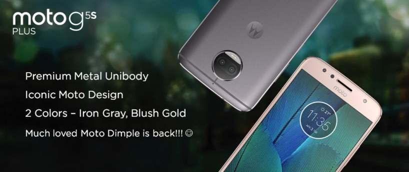 Moto G5S Main highlights