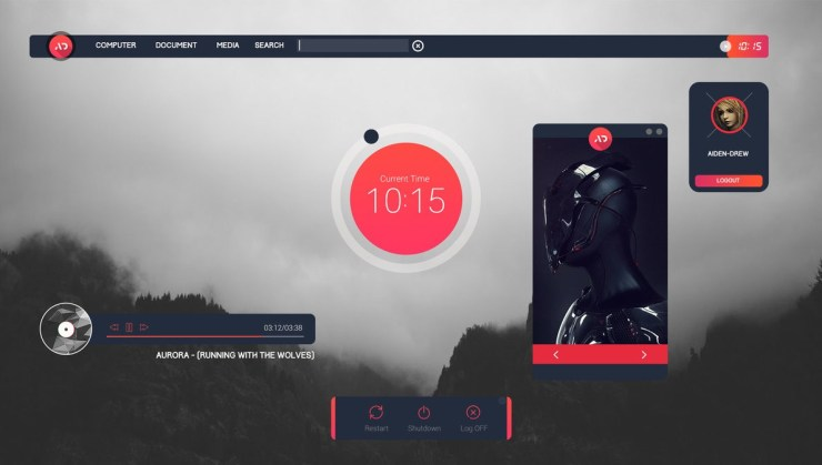 Senja Suite Best Rainmeter themes