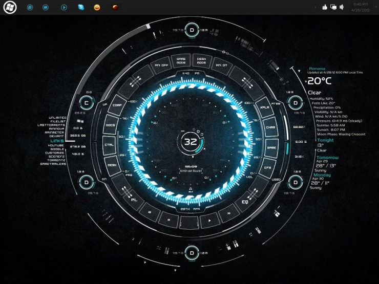 tech-a best rainmeter skins
