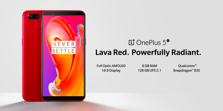 Lava Red OnePlus 5T