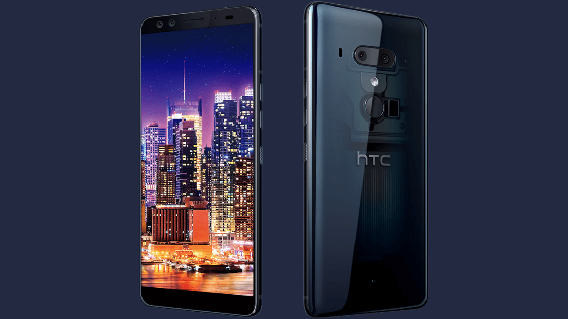 HTC U12+ From the front and rear