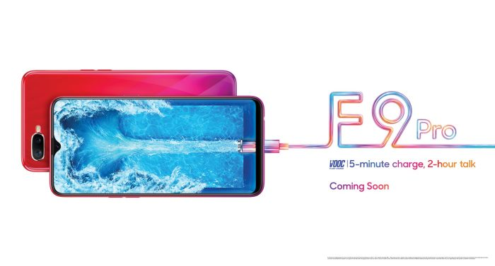 The Oppo F9 Pro is coming with the VOOC Charging
