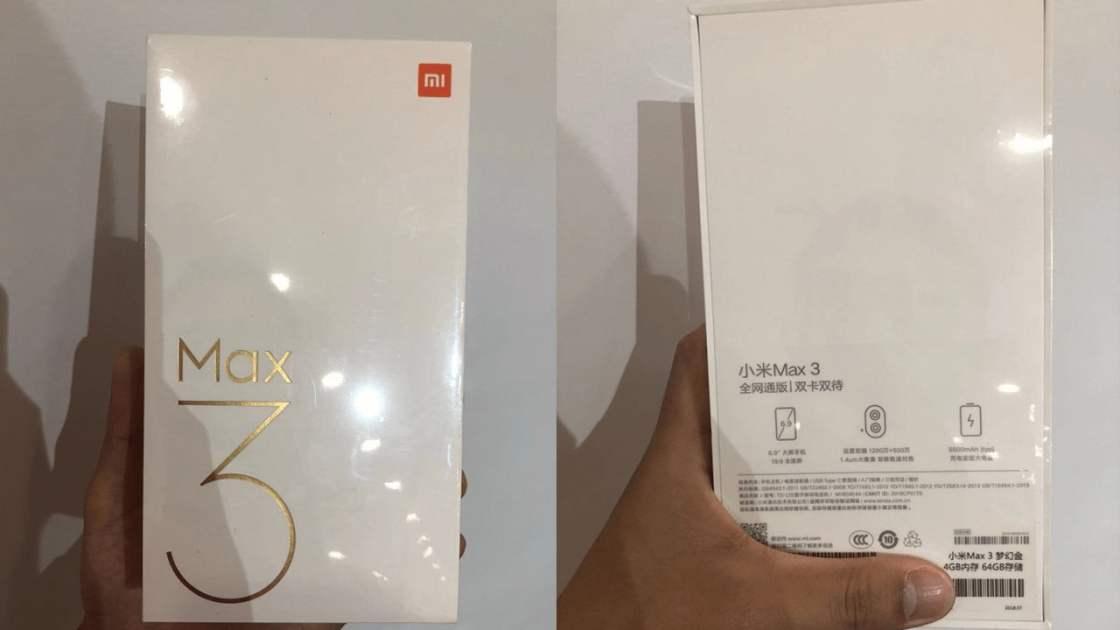 Xiaomi Mi Max 3 retail Box