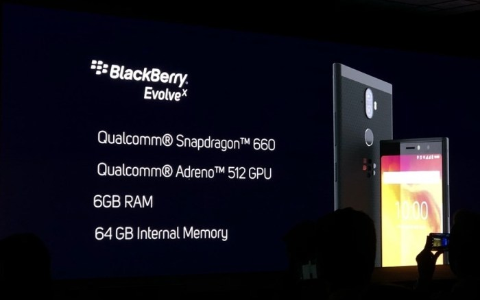 Blackberry Evolve X Specifications