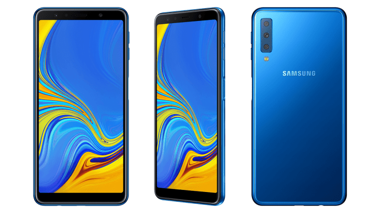 Samsung Galaxy A7 2018 in Blue