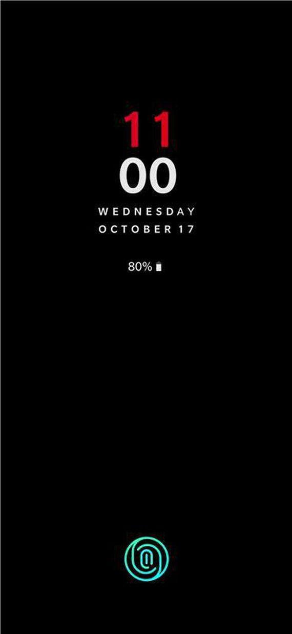OnePlus 6T Lockscreen