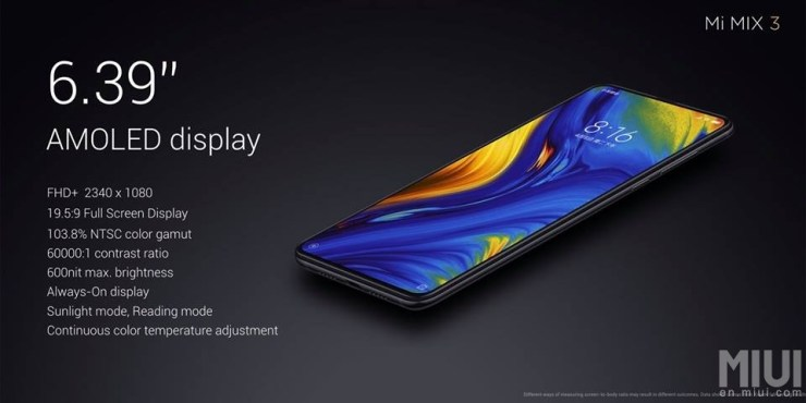 Xiaomi Mi Mix 3 launched with bezel-less design & up to 10GB RAM 3