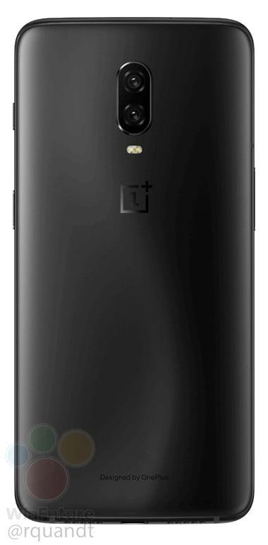 OnePlus 6T in Midnight Black (Rear)