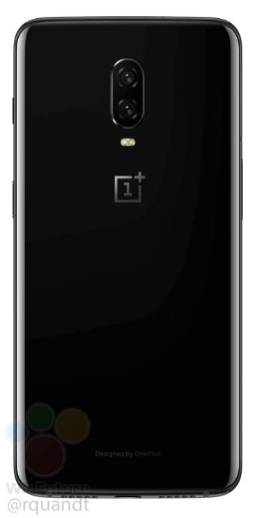 OnePlus 6T in Mirror Black (Rear)