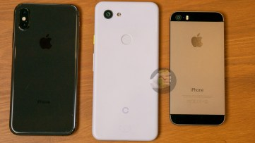 iPhone XS, Google Pixel 3 Lite and iPhone 5s