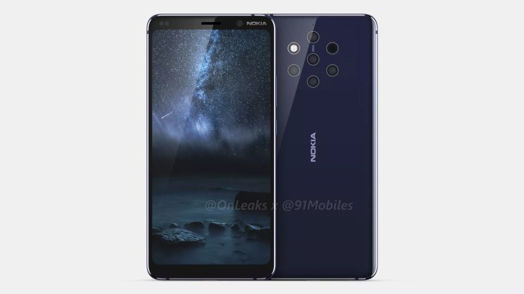 Nokia 9 CAD renders confirm a Penta Lens setup on the rear 1