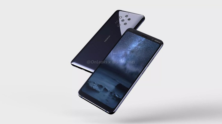 Nokia 9 CAD renders confirm a Penta Lens setup on the rear 3