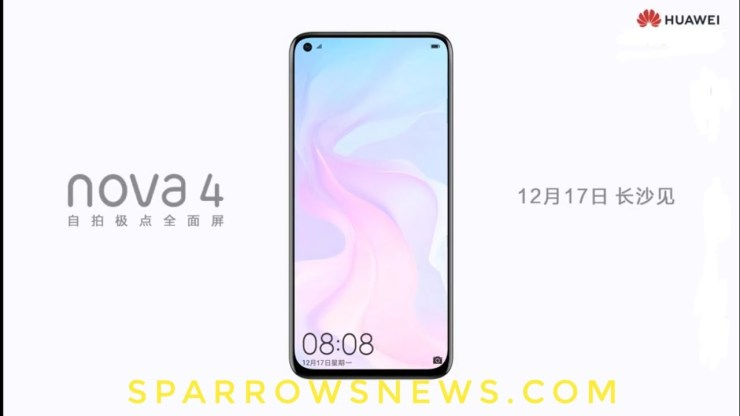 Huawei Nova 4 teaser reveals the design of phone yet again 1