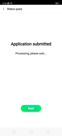 Application Submitted