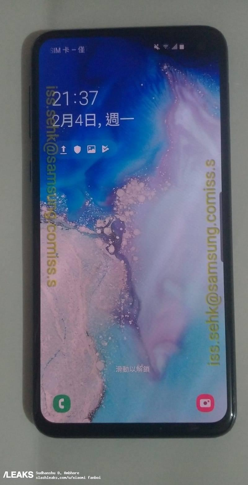 Here are the live images of the Samsung Galaxy S10e 2