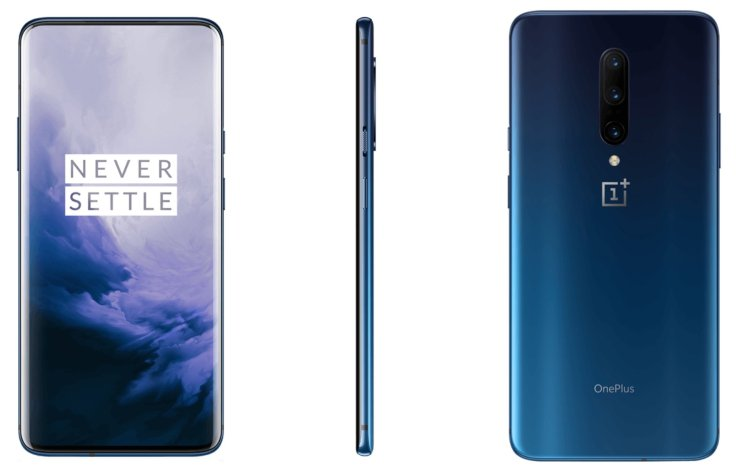 Here is the OnePlus 7 Pro in Nebula Blue & Mirror Grey 1