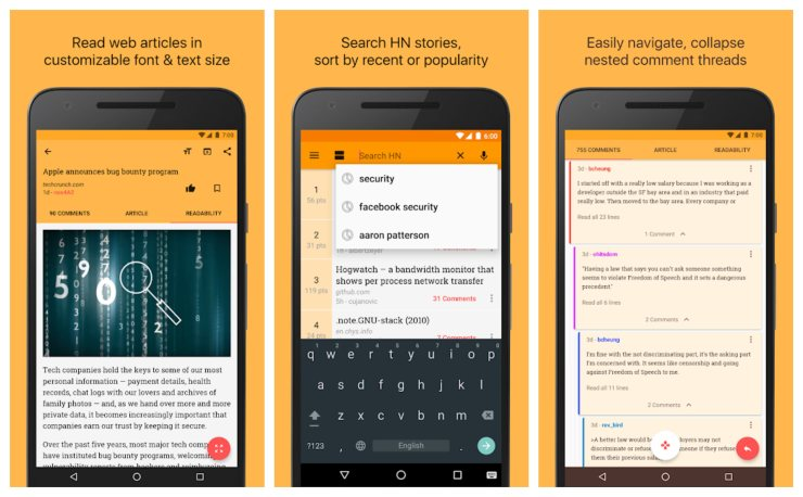 Hacker News Best tech news apps for android