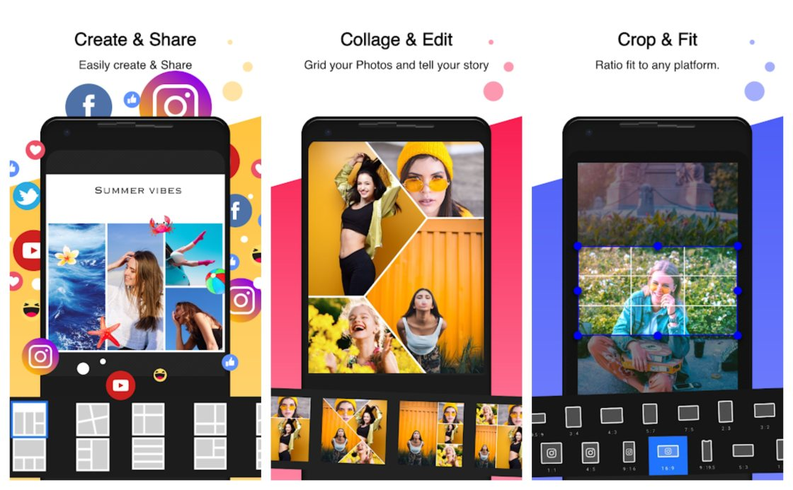 PhotoGrid Instagram Story Editor Apps