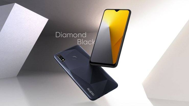 Realme 3i Diamond Black Color