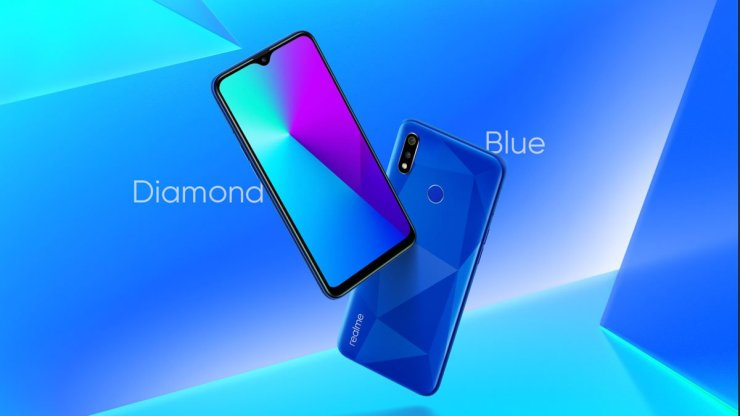 Realme 3i in Diamond Blue Color