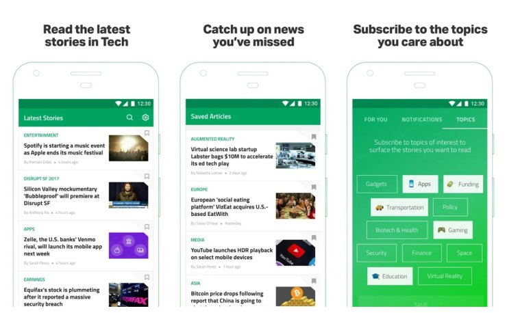 Tech Crunch Best technology news apps for android