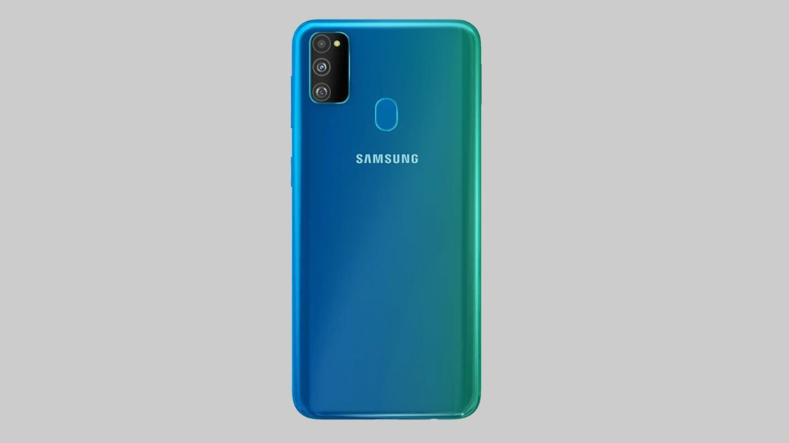 Samsung Galaxy M30s from the rear