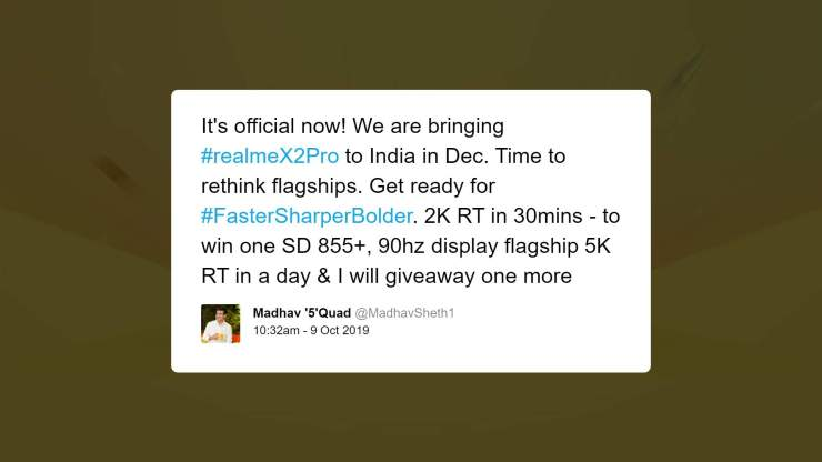 Realme X2 Pro Launch in India happening in December
