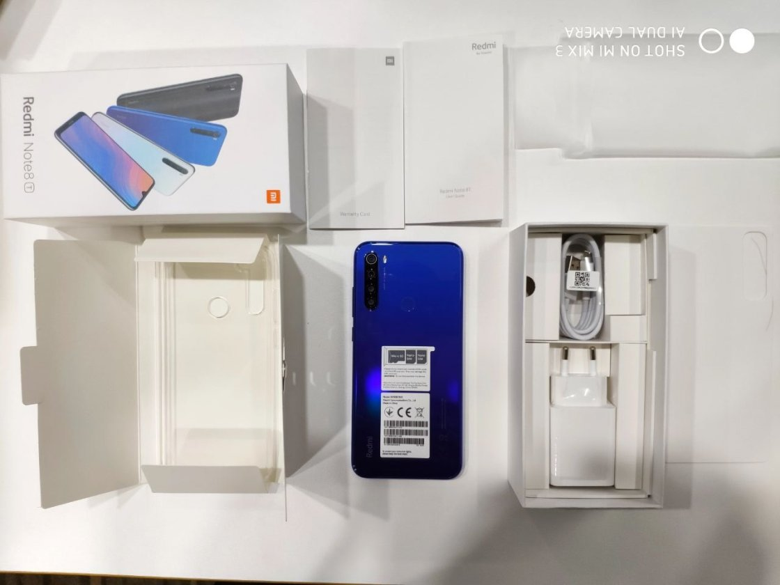 Redmi Note 8T Retail Packaging