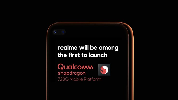 Realme will be among the first to launch a Qualcomm Snapdragon 720G powered smartphone