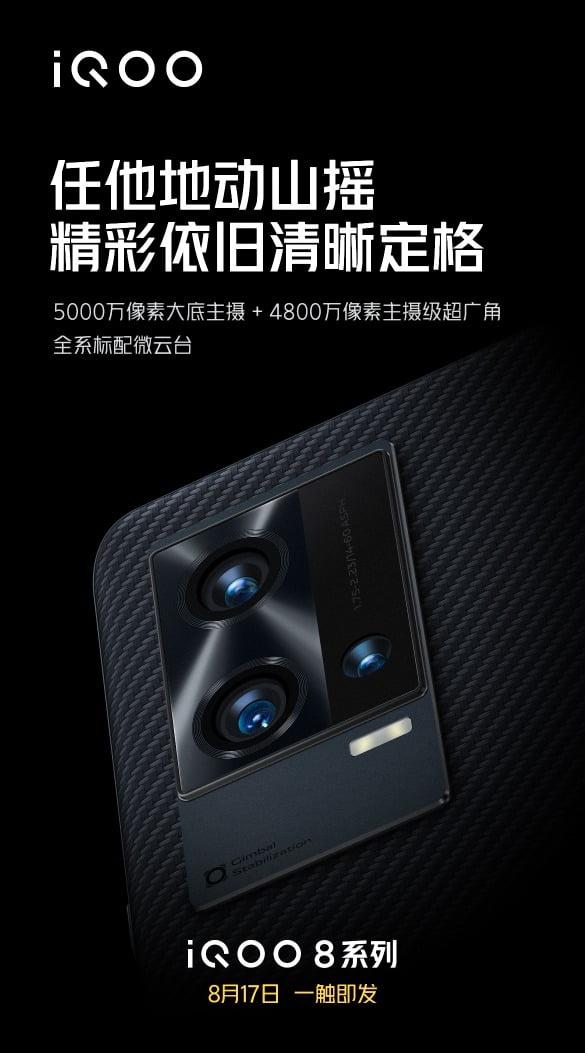 iQOO 8 Pro Cameras