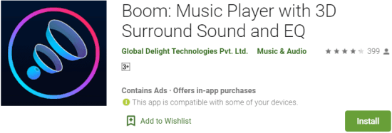 Boom Music Player For PC Download