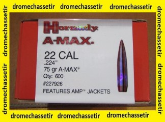 Pack de 600 Ogives Hornady A-MAX