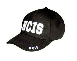 Casquette noire NCIS brodée